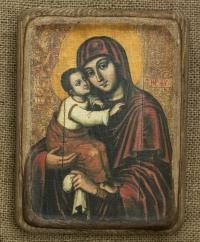Почаївська ікона Божої Матері (Замилування) 17ст. - №1